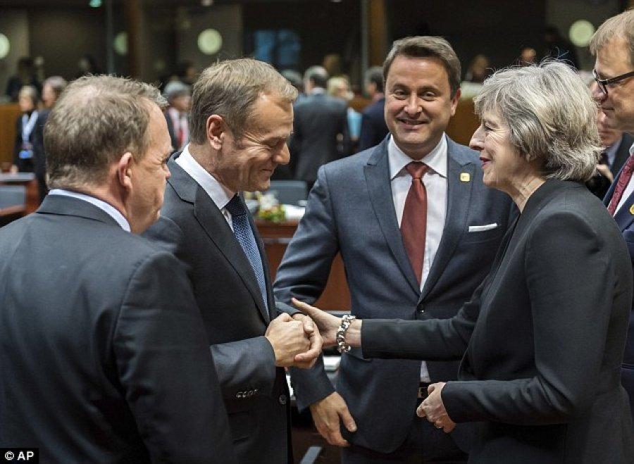 Sipas mediave britanike  BE poshtëron kryeministren May