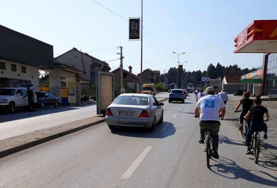 Peja ende pa shtigje për biçikleta brenda qytetit